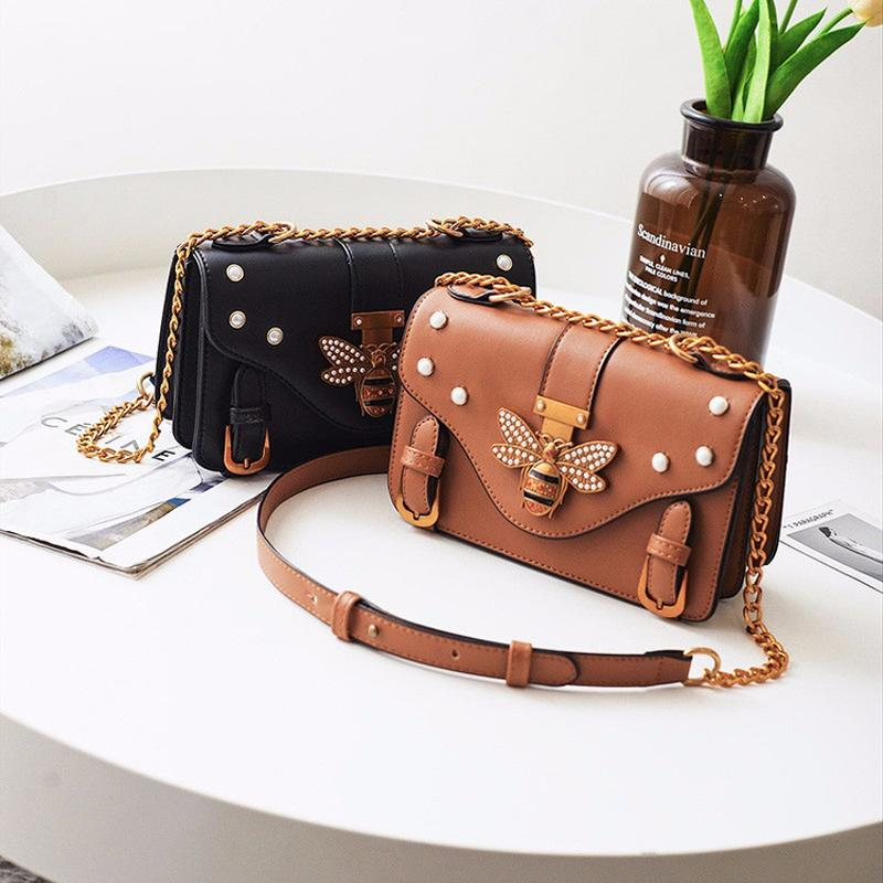 5827448ddd 2019 Fashion Brand Bag Women Messenger Bags Little Bee Handbags Crossbody  Bags For Women Shoulder Bags Designer Handbags With Pearl 647 Branded  Handbags ...