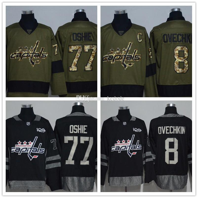 washington capitals 8 alex ovechkin black ice jersey 90a7be01a