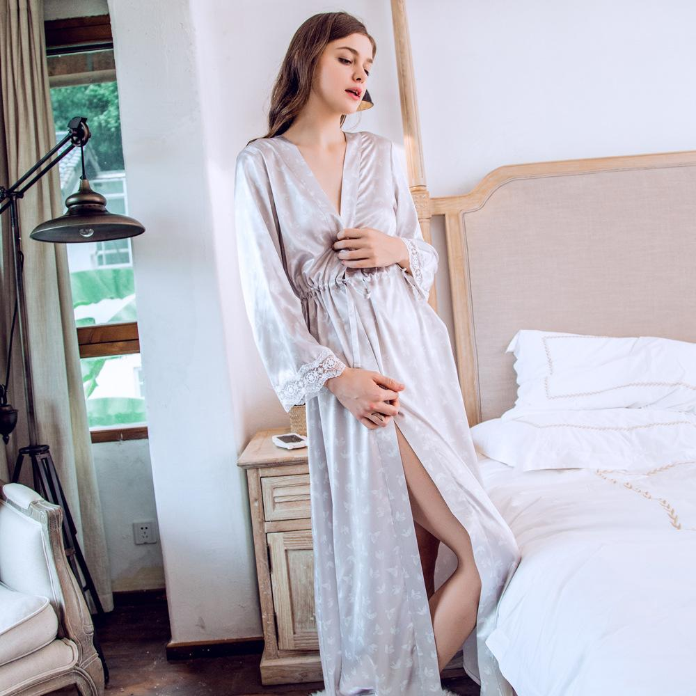 240ccb09d8 Long robe women nightgown sleepwear elegant robe for lady from piaocloth  jpg 1000x1000 Elegant sleepwear