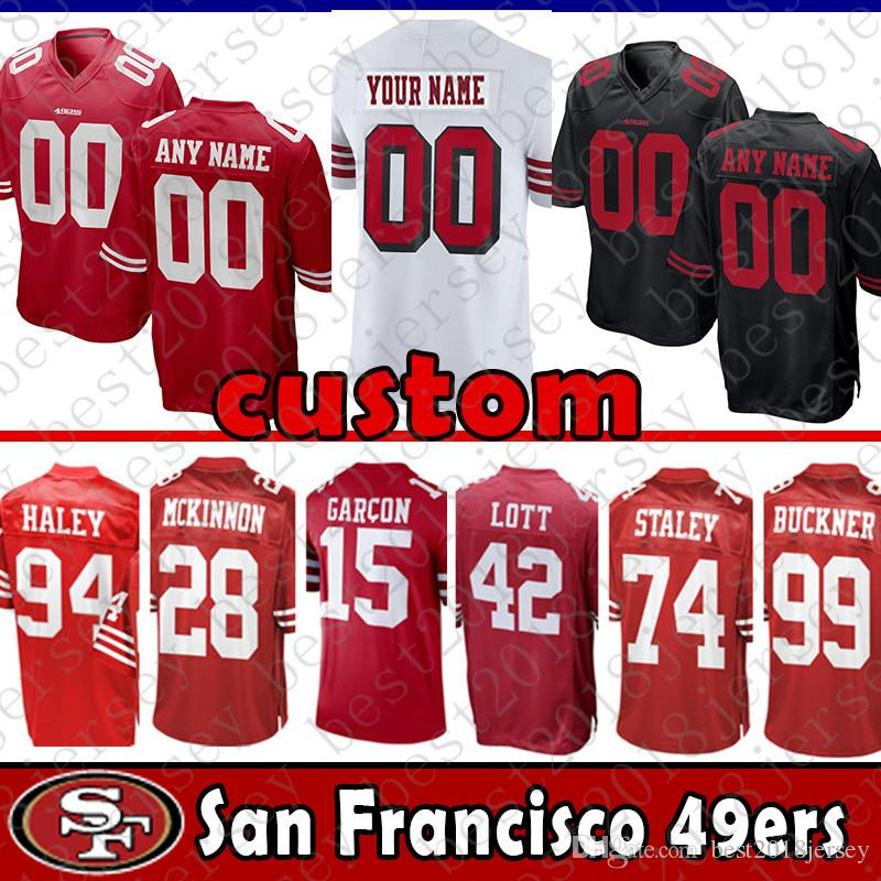 reputable site a9024 3ee9e 4 Nick Mullens 87 Dwight Clark custom Jersey San Francisco 49ers 94 Charles  Haley 28 Jerick McKinnon 15 Pierre Garcon Tartt 99 Buckner
