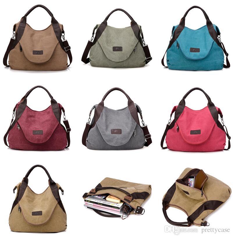 2001670dd1 Luxury Women Shoulder Bag Large Pocket Casual Tote Vintage Style Handbag  Shoulder Crossbody Handbags Canvas Leather Capacity Bags Briefcase Leather  Backpack ...