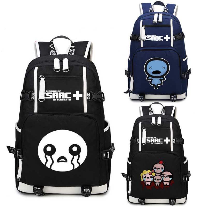 b19a1fec8021 The Binding of Isaac School Backpack Bags Laptop Shoulder School ...