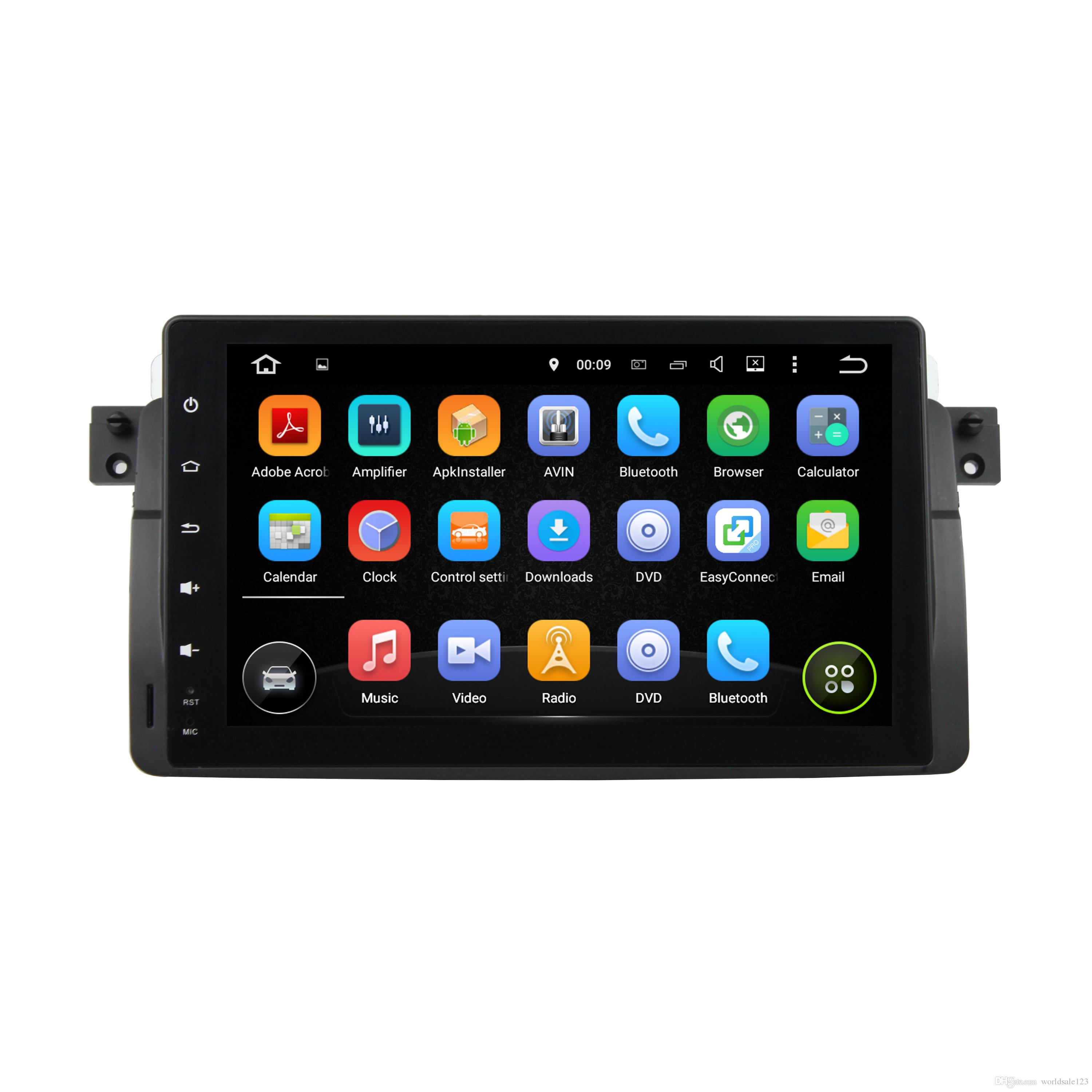 9 Inch Hd Touch Screen Android 7.1 Car Dvd Radio Player For Bmw E46 ...