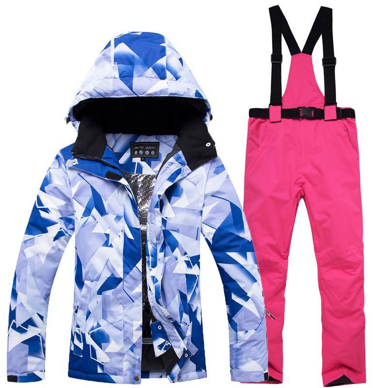 Acquista 2018 Nuova Tuta Da Sci Calda Donna Calda Impermeabile 30 Gradi  Tute Da Sci Set Da Ragazza Outdoor Snowboard SnowHigh Quality Giacche  Pantaloni A ... 1fd53104aa21