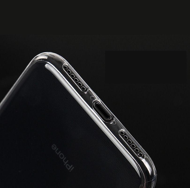 IPhone X 10 8 7 Custodia trasparente TPU Clear Case 0.3MM ultra sottile Samsung Galaxy S8 Plus Note8