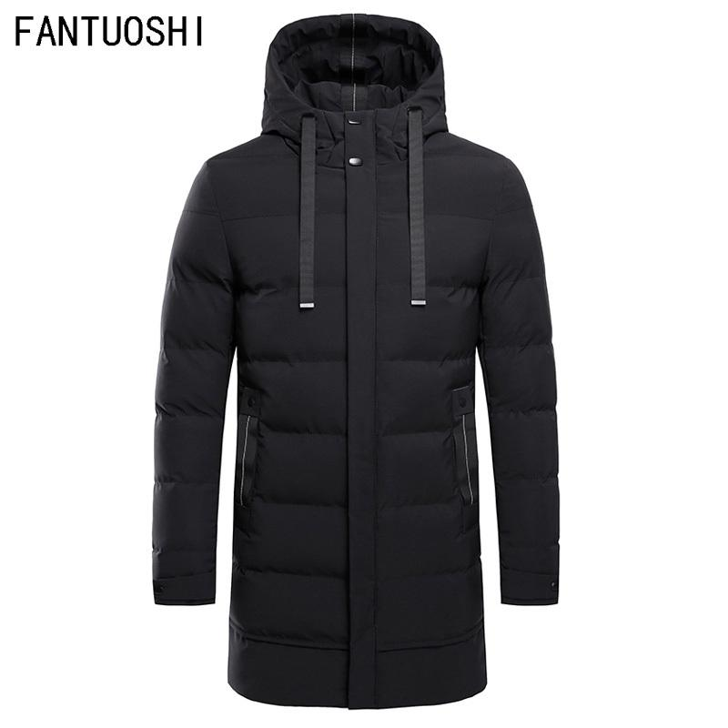 bc8b1aa8864 High Quality Parka Men Winter Long Jacket Men Hooded Thick Cotton ...
