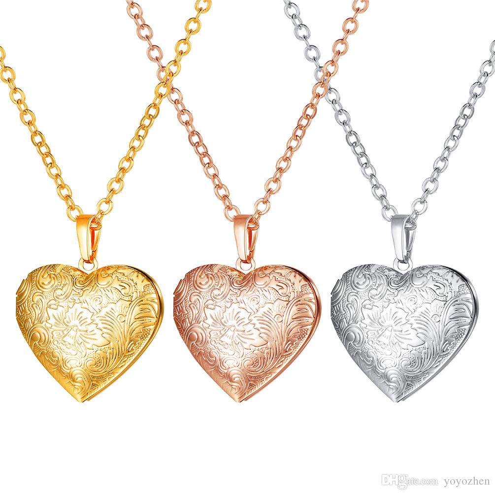 locket plated k with product argento gold of shop heart lockets border necklace vivo sterling image silver