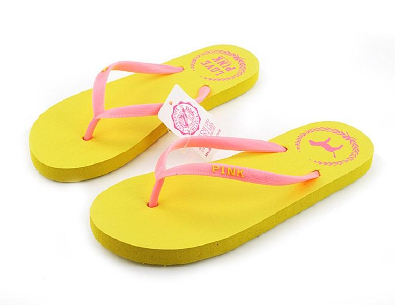 Girls Love Pink Flip flops Sandals Candy colors Pink Letter Beach Slippers Shoes Summer Soft Beach Slippers