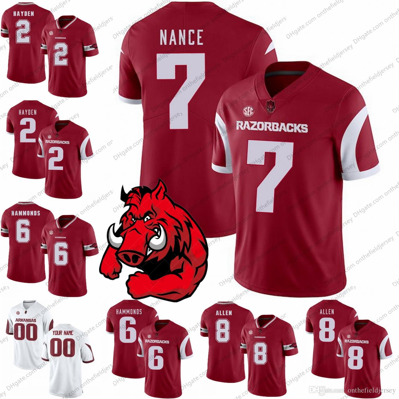 97074cefa Arkansas Razorbacks 2018 NEW STYLE NCAA College Football Jerseys  2 ...