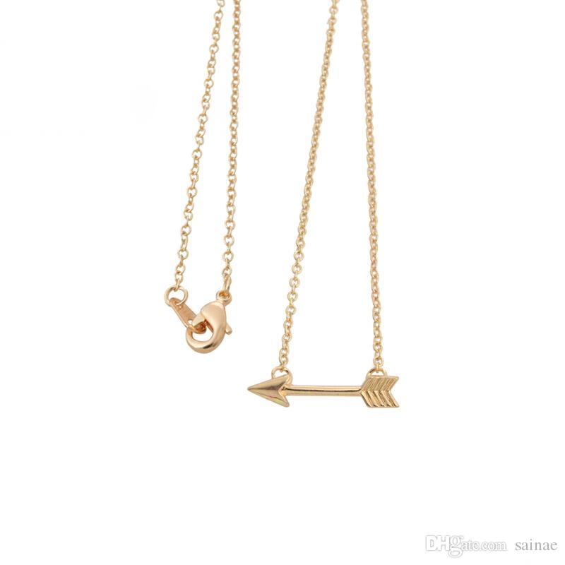 Wholesale wholesale 2016 gold plated long chain arrow pendant wholesale wholesale 2016 gold plated long chain arrow pendant necklaces for women simple pendants necklaces for girls xl003 white gold pendant necklace aloadofball Image collections