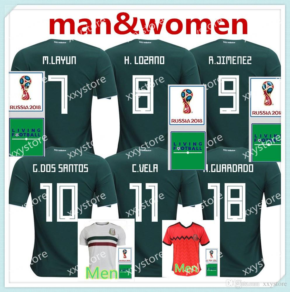 2019 Mexico Jersey 2018 World Cup Green HERNANDEZ G.DOS SANTOS M.LAYUN CARLOS  Vela Football Shirts 18 19 Mexico CHICHARITO Soccer Jerseys From Xxystore 276bf0010