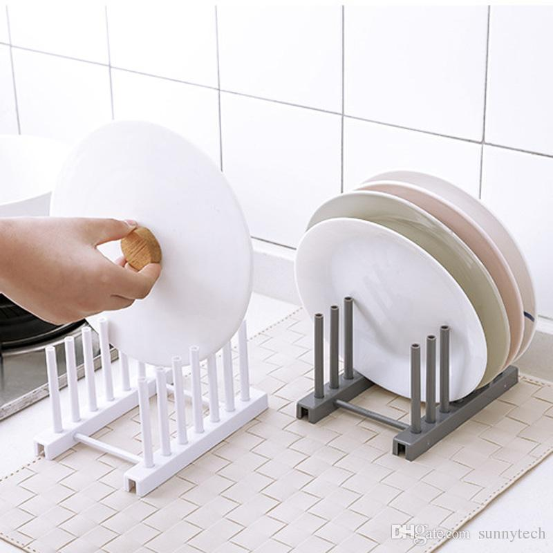 Plastic Dish Plate Rack Tableware Shelf Plate Cutlery Cup Houlder Drain Bowl Rack Dish Shelf Kitchen Accessories LZ1782
