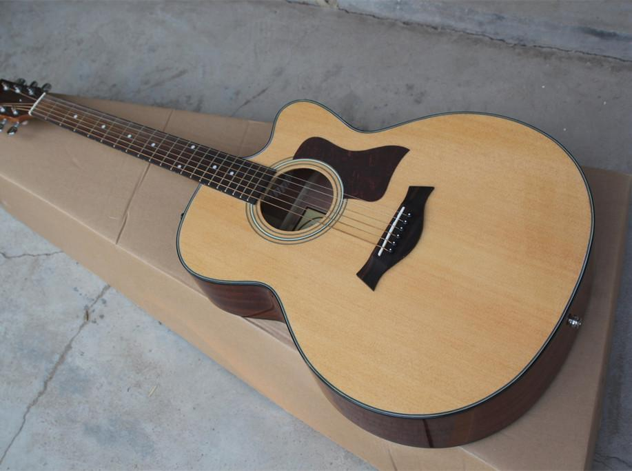 2018 New + Factory + Chaylor 314 acoustic guitar TY 314ce acoustic electric  guitar KSG OEM electrical acoustic guitar