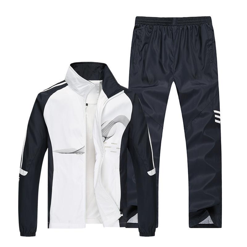 bb973b20edc28 Satın Al Amberheard 2017 Bahar Marka Eşofman Erkekler Spor Ceket + Pantolon  Eşofman Iki Parçalı Set Erkek Kazak Spor Suit Giyim, $65.48 | DHgate.Com'da