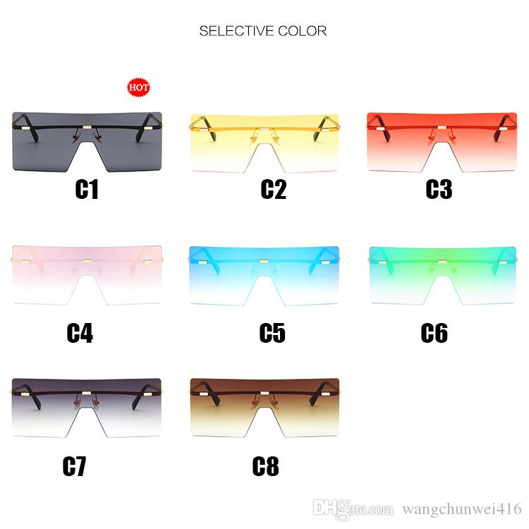 Oversized sunglasses Sunglasses for Women Colorful Lens Square Sun Glasses Female Gradient Unisex Beach vacation tour Mirror Shades