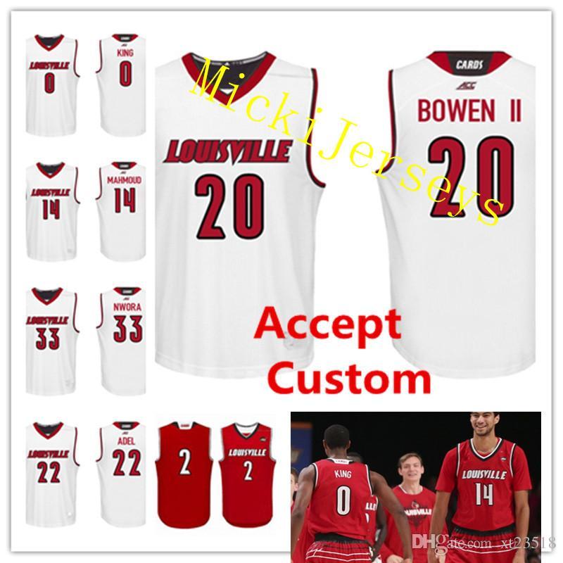 2019 Custom NCAA Louisville Cardinals College Basketball Jerseys Damion Lee  VJ. King Anas Mahmoud Brian Bowen Deng Adel Nwora Louisville Cardinal From  ... 25e2f702d