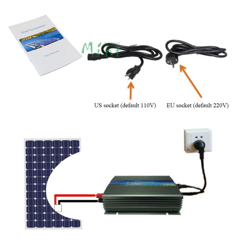1000W Grid Tie Inverter, 20-50V DC to AC 220/230V Pure Sine Wave Inverter for 1000-1200W 24V, 30V, 36V PV module or Wind Turbine