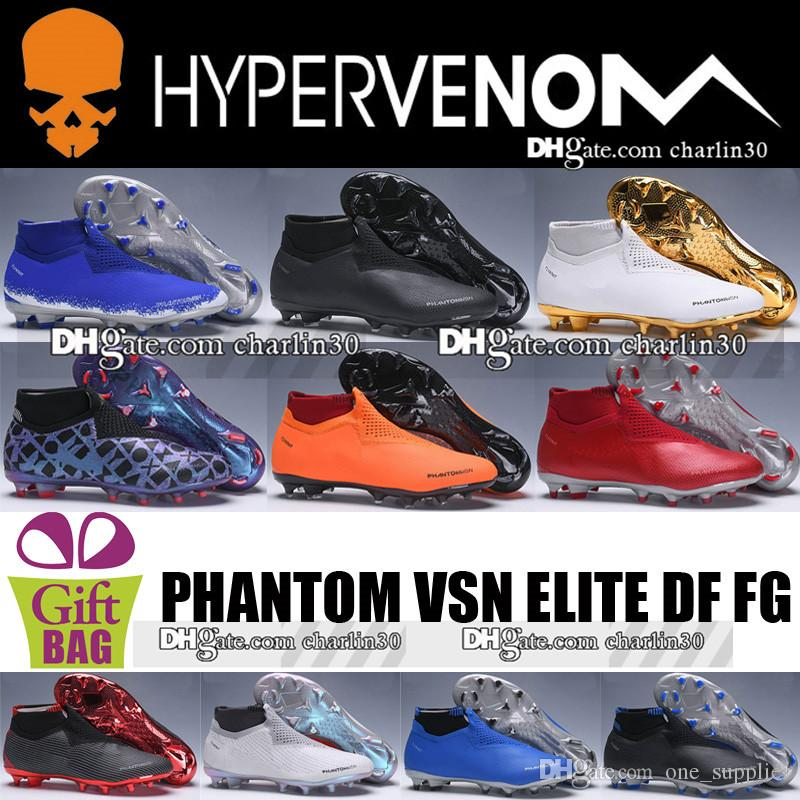 7d2315e9532 New Original Men Phantom VSN FG Leather Soccer Shoes Boots Mens VSN ...