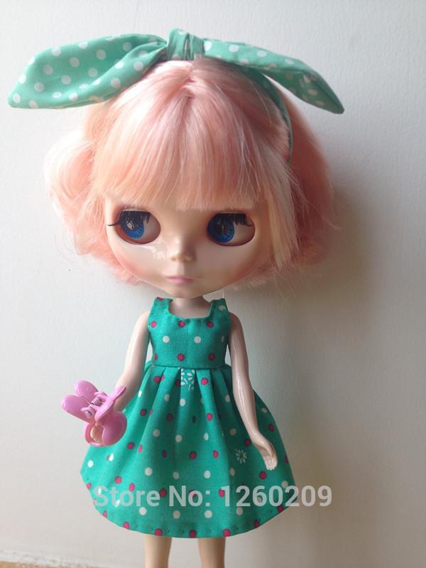 New Dress Design Acheter Blythedoll Blue Vêtements Doll CoeBxrd