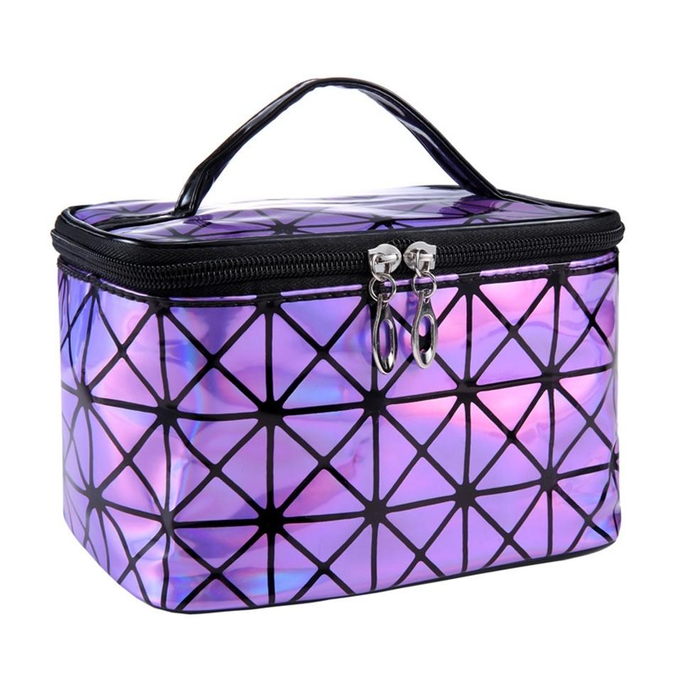 0970b7cdd10e Functional Cosmetic Bag Women Fashion PU Leather Travel Make Up Necessaries  Organizer Zipper Makeup Case Pouch Toiletry Kit Bag