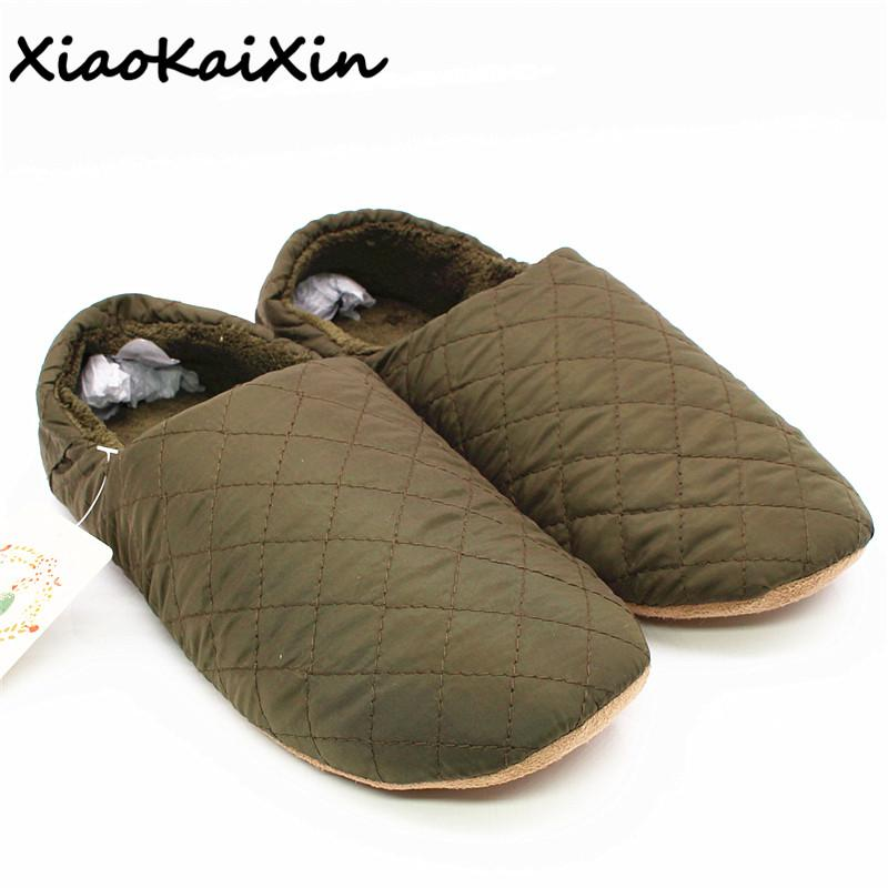 560712edc XiaoKaiXin Winter Simple Japanese Style Slippers For Men/Women/Children  Solid Sewing Nylon Indoor Floor Warm Plush Home Slippers Fringe Boots Girls  Shoes ...
