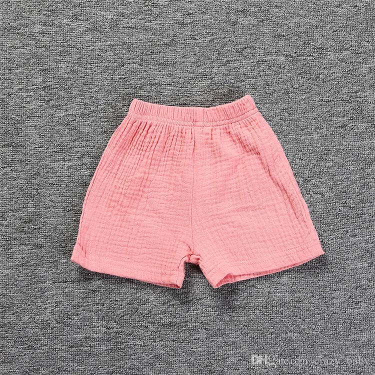 Tout-petit bébé Vêtements fixe Gaze Cotton Tank Top Dress + Shorts Pantalons enfants Vêtements Outfit