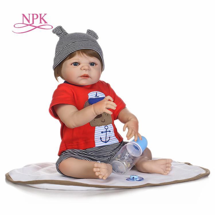 f316a194b NPK Reborn Baby Boy Dolls 22inch Full Silicone Body Reborn Babies ...