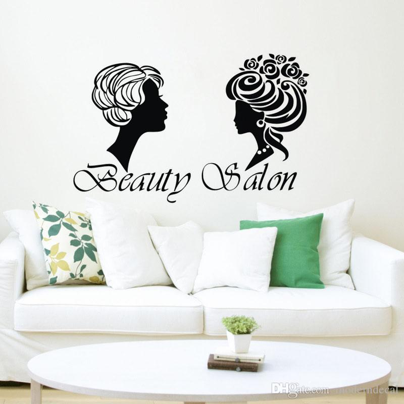 Girl Beauty Salon Wall Decorations For Creativity Wall Stickers Home