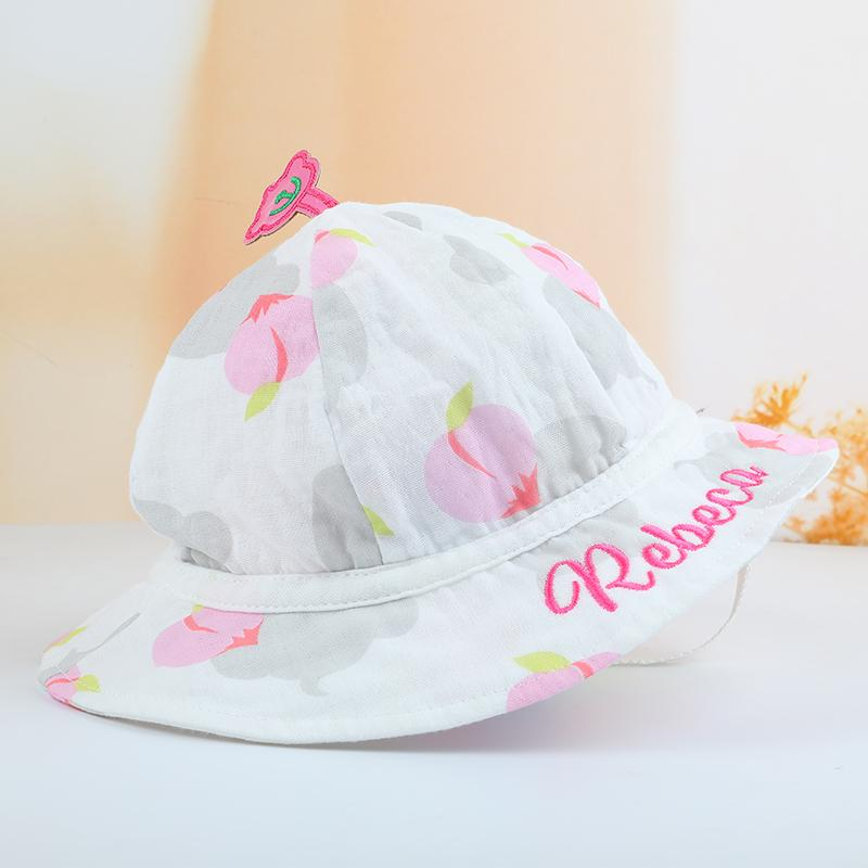 1229bfdc315 2019 Custom Made Baby Boonie Hat Cotton Name Embroidery Outdoor Cap Infant  Bibs Push Present Newborn Birth Gift From Cassial