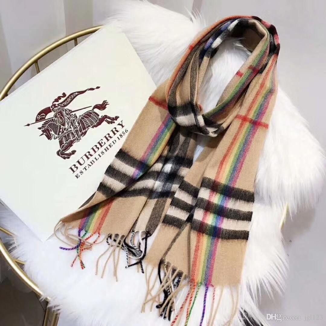 36af8a3c094c Acheter De Luxe D hiver Cachemire Écharpe Pour Les Femmes Marque Designer  Mens Chaud Écharpe À Carreaux De Mode Femmes Imitent Cachemire Laine 5  Style ...