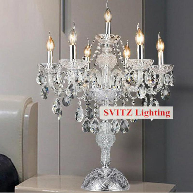 Bon 2018 Chrome Silver Candleholder Table Lamp Candelabra Table Lights Dining  Room Bedroom Wedding Glass Candle Holders From Amosty, $353.41 | DHgate.Com