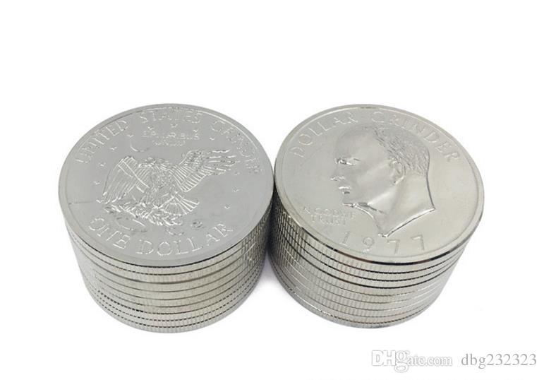 Creative coin grinder, zinc alloy diameter 52mm fume breaker