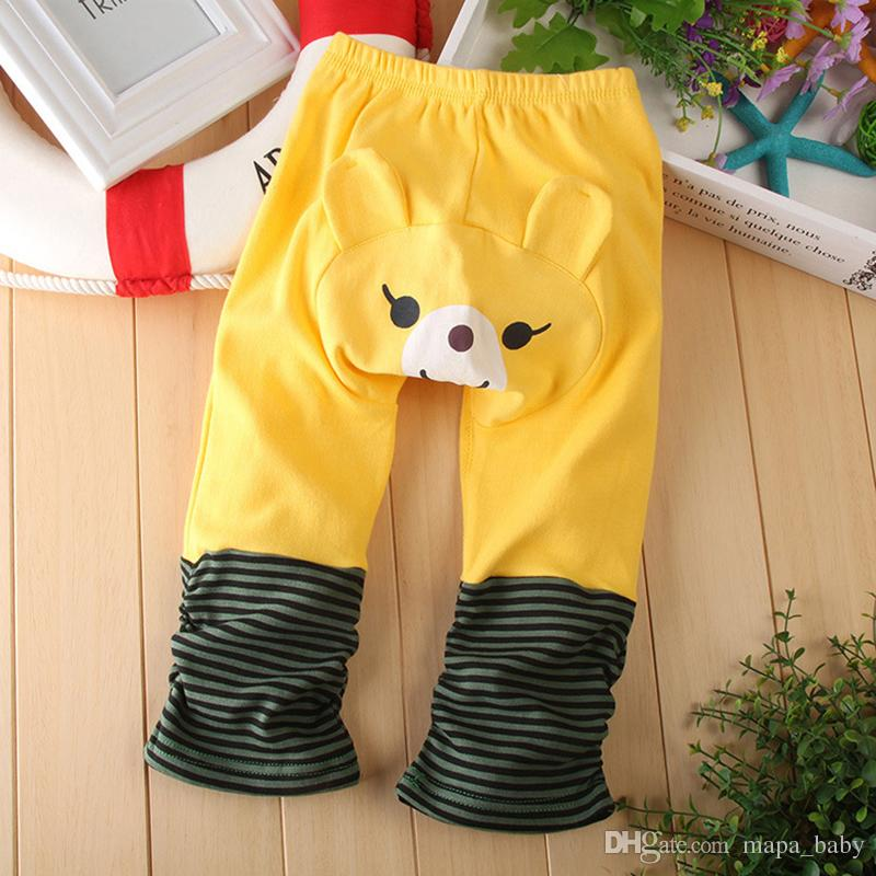 Kids Cartoon Leggings Baby Footless Tights Animal Lovely Boys Girls Elastic Soft Cotton PP pants Kids Tights for 0-4T 8 Colors