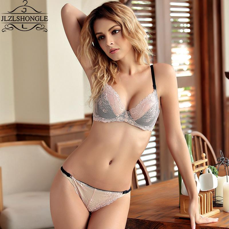 2019 2017 New Arrival Lace Transparent Bra Sets Padded Push Up Thin Bralette  Thongs Underwear Sexy Intimates Women s Lingerie Set From Roberr 17f8e4b26