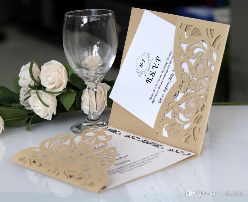 Acheter Faire Part De Mariage Découpé Au Laser De Couleur Bleue Mesmerizing Stil Des Invitation De Mariage