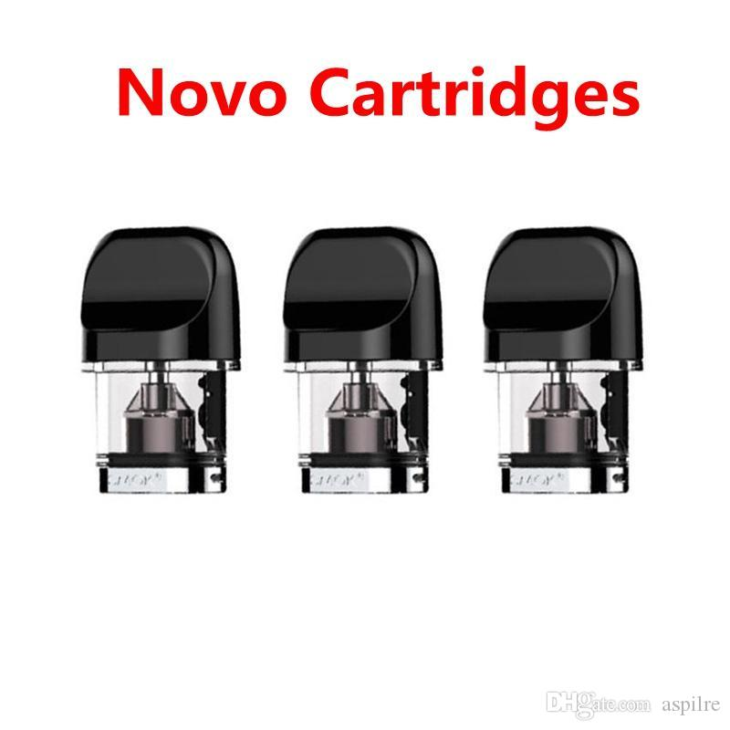 100% Orginal NOVO Pods Cartridges 2ml Replacement Pod Cartridge for NOVO Kit with Flatter Mouthpiece Side-Refilling Design