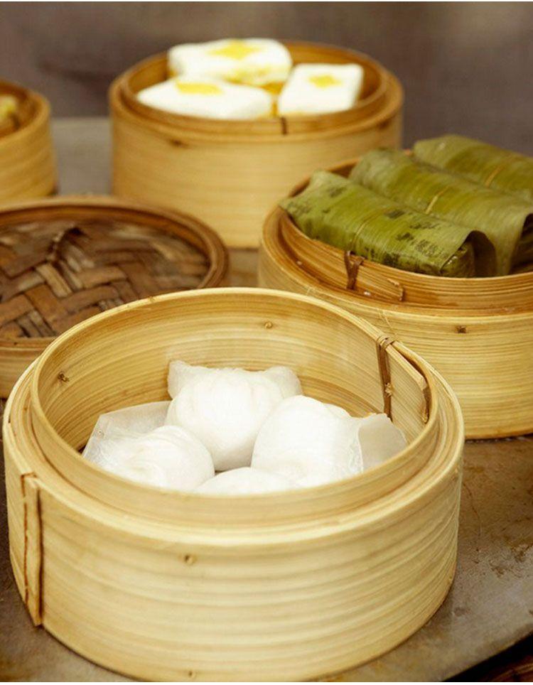 custom bamboo steamer household hand made kitchen tableware set