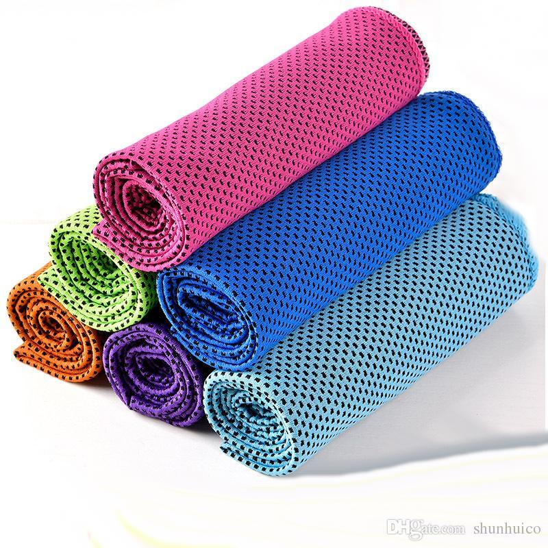 Mágica toalha fria esportes exercício suor de fitness verão ao ar livre gelo legal toalha hipotermia super toalha de refrigeração