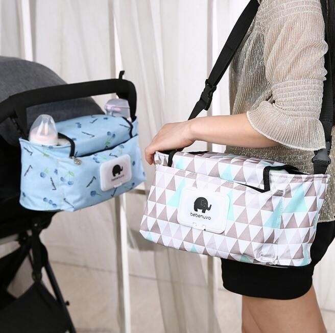 Fleur de bande dessinée, produits pour bébés pliants, chariot  multifonctionnel, sacs suspendus, sacs de collecte. Matériel  toile.  Taille  33   14   16cm 066e6e453a3