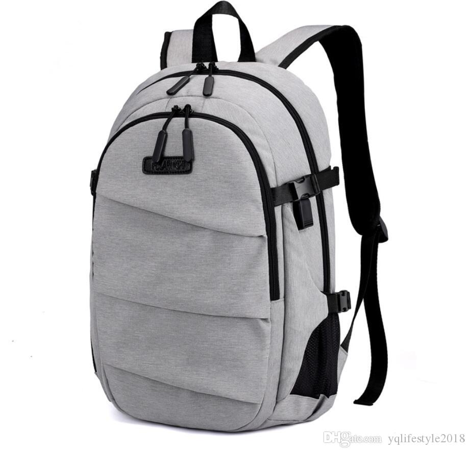 5f419f8aebea School Bags Backpack Computer Bag Fashion Oxford Cloth Black Dark Grey Light  Gray Deep Blue Suitable For Young People Gentlemen Osprey Rucksack Backpack  ...