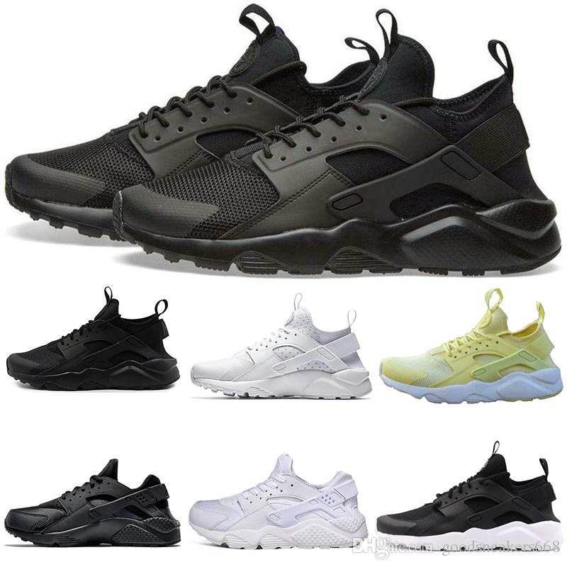 5164f8c4d477 New Cheap Huarache Ultra Runner 4.0 1.0 Running Shoes Triple White ...