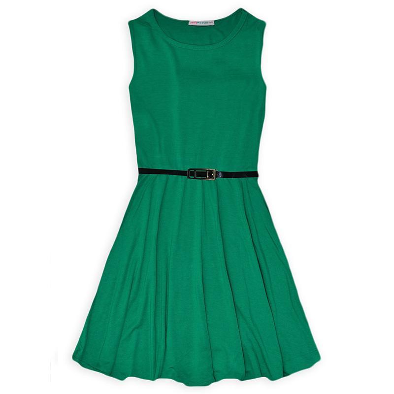 Hot Girl Dress 2016 New Arrival Summer Cotton Casual Beach Sundress With Belt Infantil Baby Children Clothes Princess Vestido