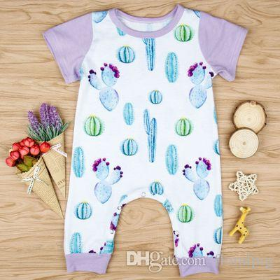 4e44c2f51ed8 2018 New Arrival Kdis Cactus Print Rompers Baby Girls Boy Playsuit ...