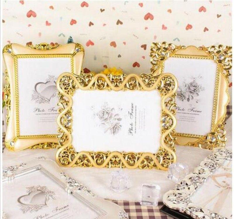 Vintage Luxury Baroque Style Gold Silver Decoration Picture Desktop