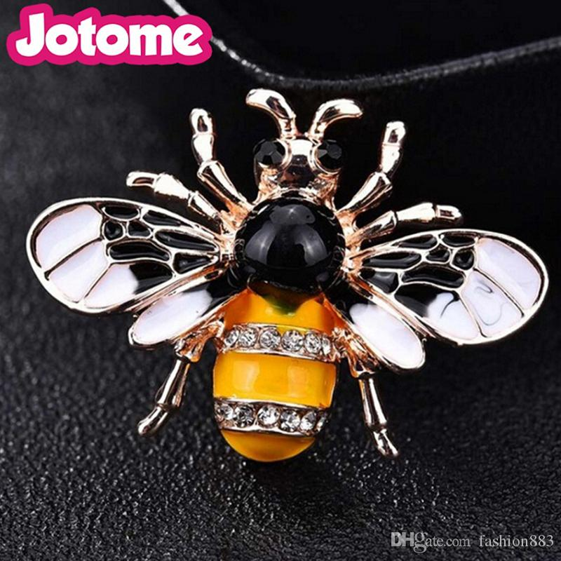 59a12b44b4a8 2019 Wholesale Custom Alloy Multicolour Rhinestone Enamel Simulated Insect  Fly Wasp Insect Brooches Pin Silver Unique Jewelry From Fashion883, ...