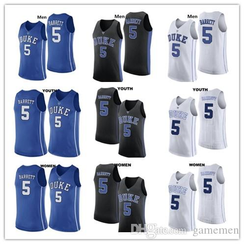 f5637e579db NCAA #5 R.J. Barrett Duke Blue Devils Blue Black White College Performance  Basketball Stitched Men Women Youth Jersey NCAA Basketball Jerseys Online  with ...