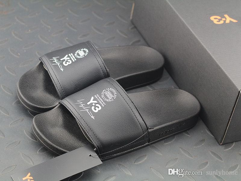 Newest AAA Quality AC7525 Adidasss Y-3 Men Adilette black footwear white core black Sandals Kanye West With Rubber Slippers Cheap With Box cheap sale low shipping outlet cheapest price outlet classic cheapest price online Av93p5ant