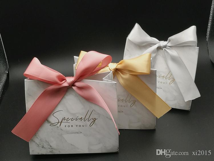 marble paper gift boxes gold stamping specially for you bridal shower gift bags with ribbon wen6814 special wedding favors spiderman party supplies from