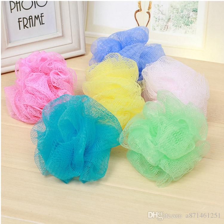 40 Multi Colors Bath Shower Sponge Pouf Loofahs Nylon Mesh Brush Classy Mini Loofah Poufs