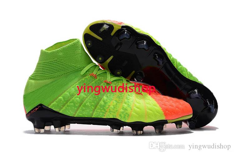 New High Ankle Top Football Boots Phantom III DF FG ACC Soccer Cleats Proximo TF IC Indoor Soccer Shoes Turf